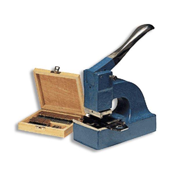 timbro perforatore e cassetta legno