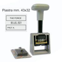 datario in metallo simplex 5100 piastra 32X43