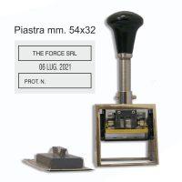 datario in metallo simplex 5100 piastra 32X54