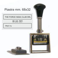 datario in metallo simplex 5100 piastra 32X68