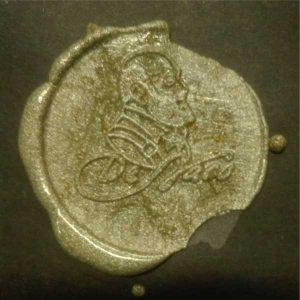 timbro ceralacca oro con logo