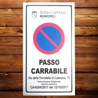passo carrabile ferratella in laterano