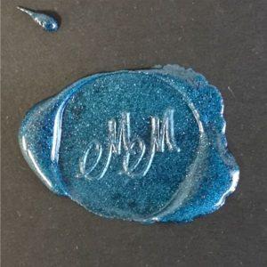 sigillo ceralacca blu metallizzata