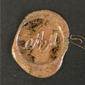 sigillo ceralacca metallizzata bronzo
