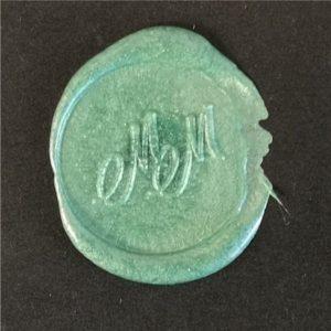 sigillo ceralacca verde metallizzata