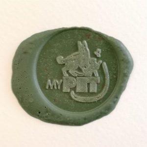 timbro ceralacca con logo my pet