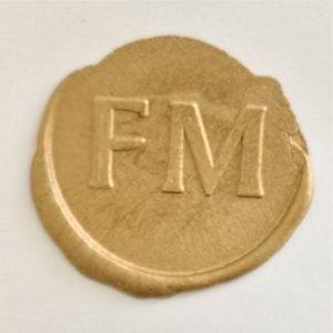 timbro ceralacca oro FM