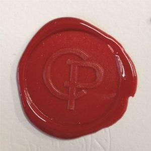 timbro ceralacca rossa CP