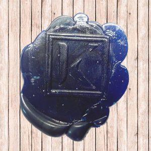timbro ceralacca blu k