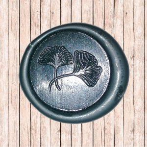 timbro ceralacca nero foglie