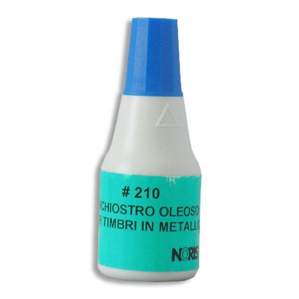 inchiostro timbri metallo blu